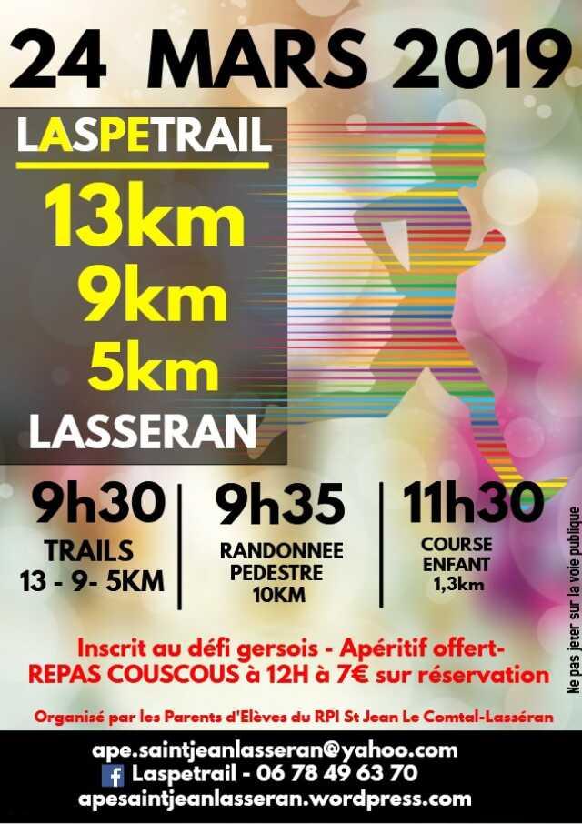 LASPETRAIL : TRAILS 5,9,13KM ET RANDONNÉE PÉDESTRE 10KM