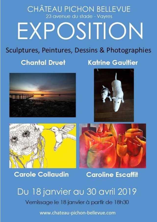 Exposition de peintures, sculptures, dessins & photographies