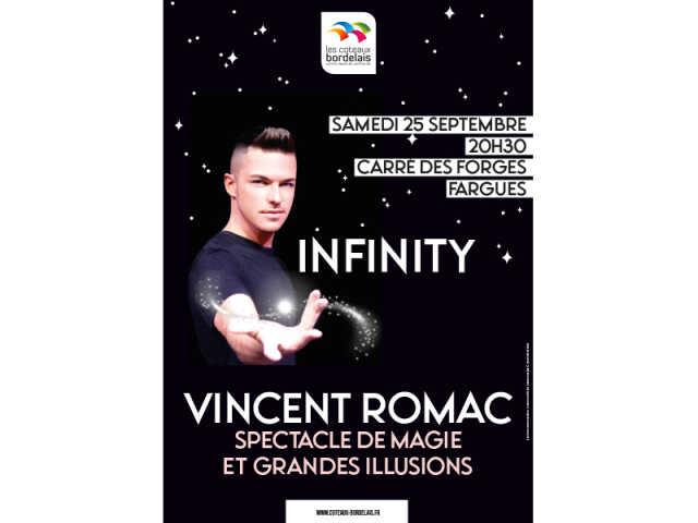 Vincent Romac INFINITY spectacle de magie et grandes illusions
