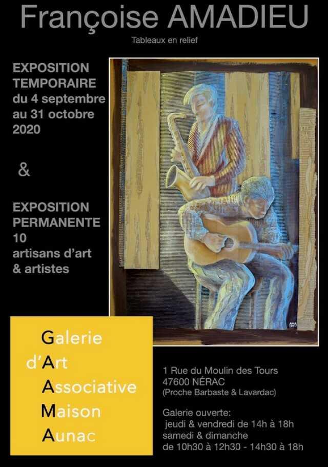 Exposition de la Galerie d'Art Associative de la Maison Aunac