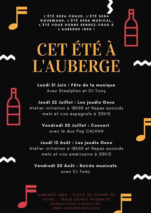 Concert - Auberge 1800