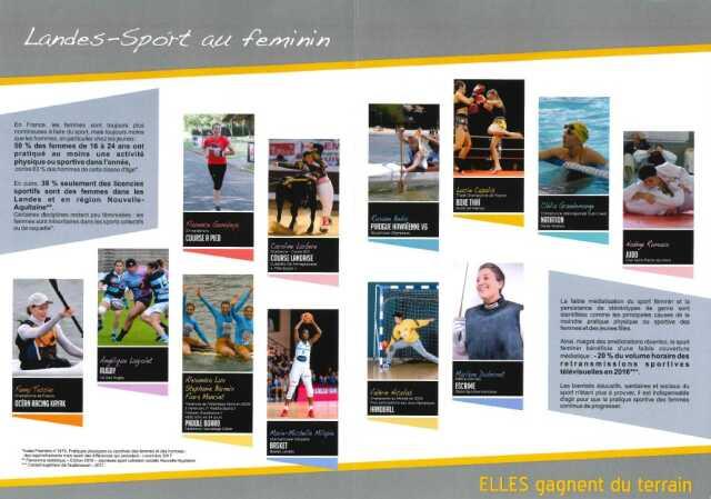 Exposition « Landes Sport au Féminin – Elles gagnent du terrain »