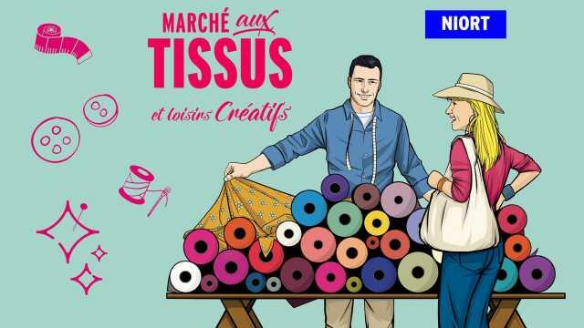 Tissus Ameublement La Rochelle deux-sèvres - foire - salon - marché aux tissus et loisirs