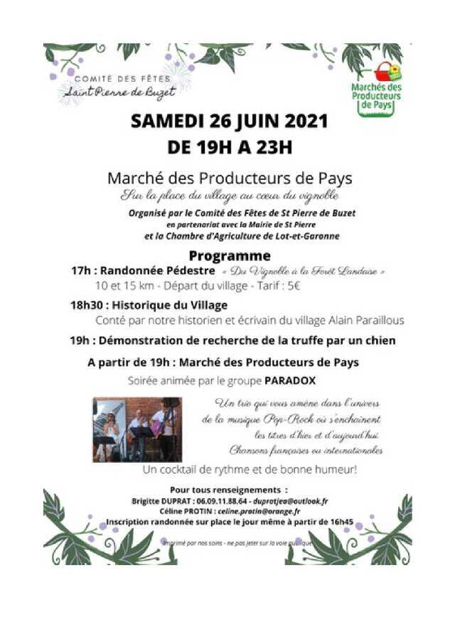 Marché des Producteurs de Pays à Saint-Pierre-de-Buzet