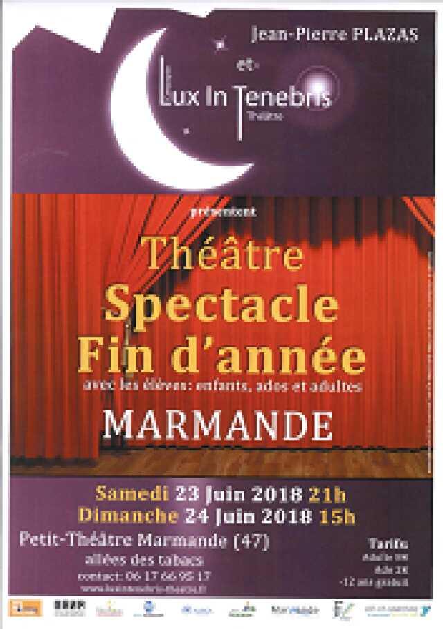 Théâtre : Spectacle de Fin d'année avec les élèves de Jean-Pierre Plazas
