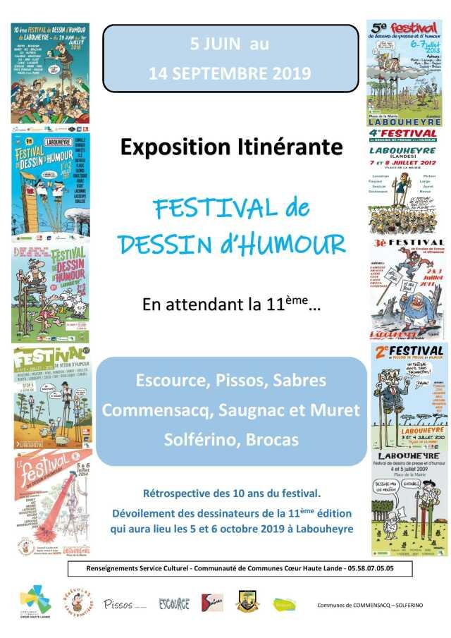 Exposition Itinérante Festival de Dessin d'Humour