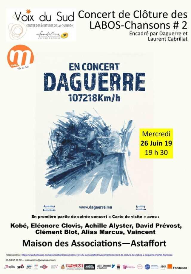 Concert de clôture des Labos-Chanson : Concert de Daguerre