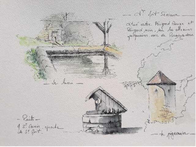 Stage d'aquarelle en Dordogne