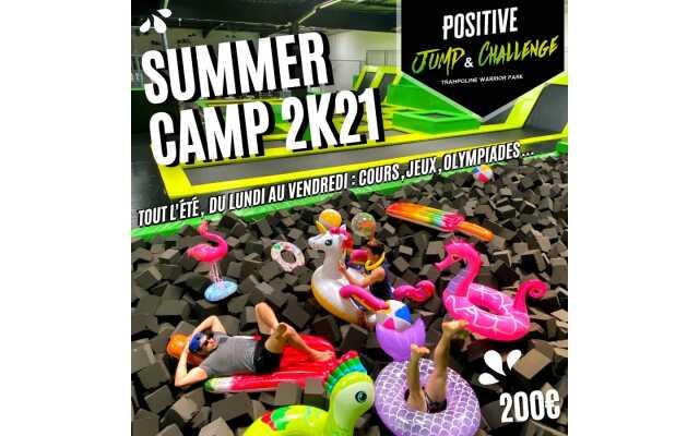 Positive Jump & Challenge: Trampoline Park: Summer Camp 2021