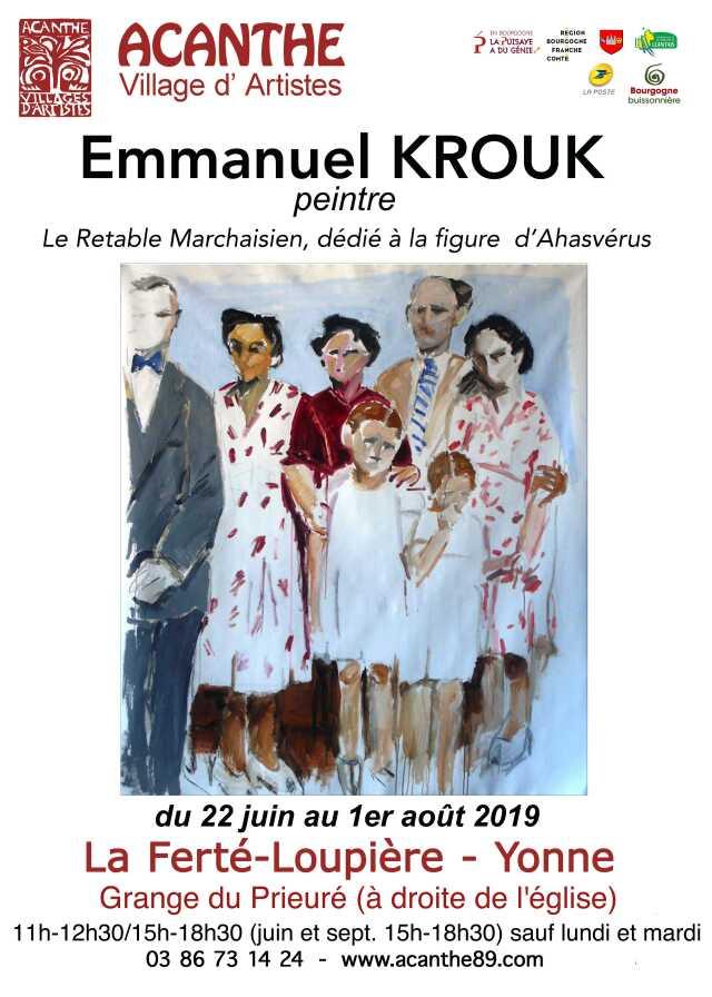 Exposition Acanthe - Grange du Prieuré - Emmanuel Krouk