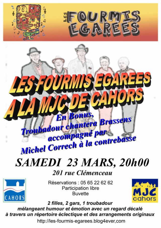Concert : les Fourmis Egarées