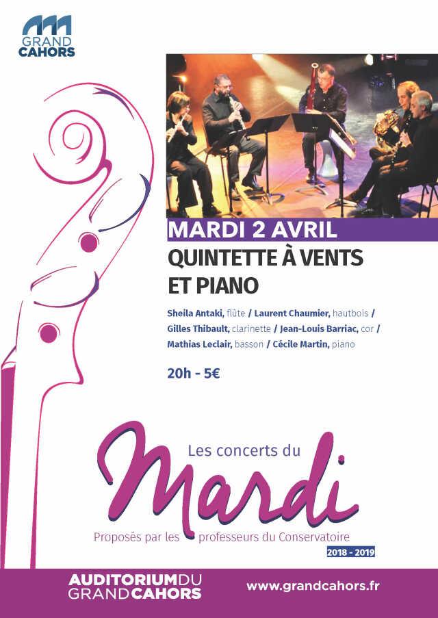 Concert : Quintette à Vents et Piano