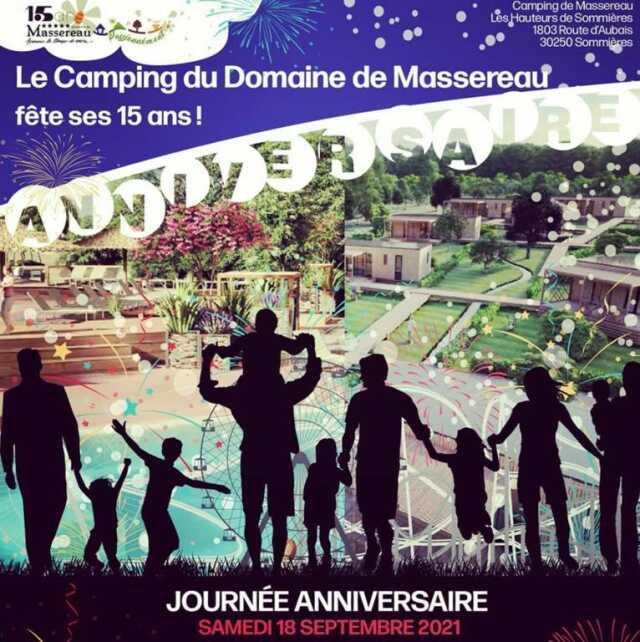 Le Camping du Domaine de Massereau fête ses 15 ans