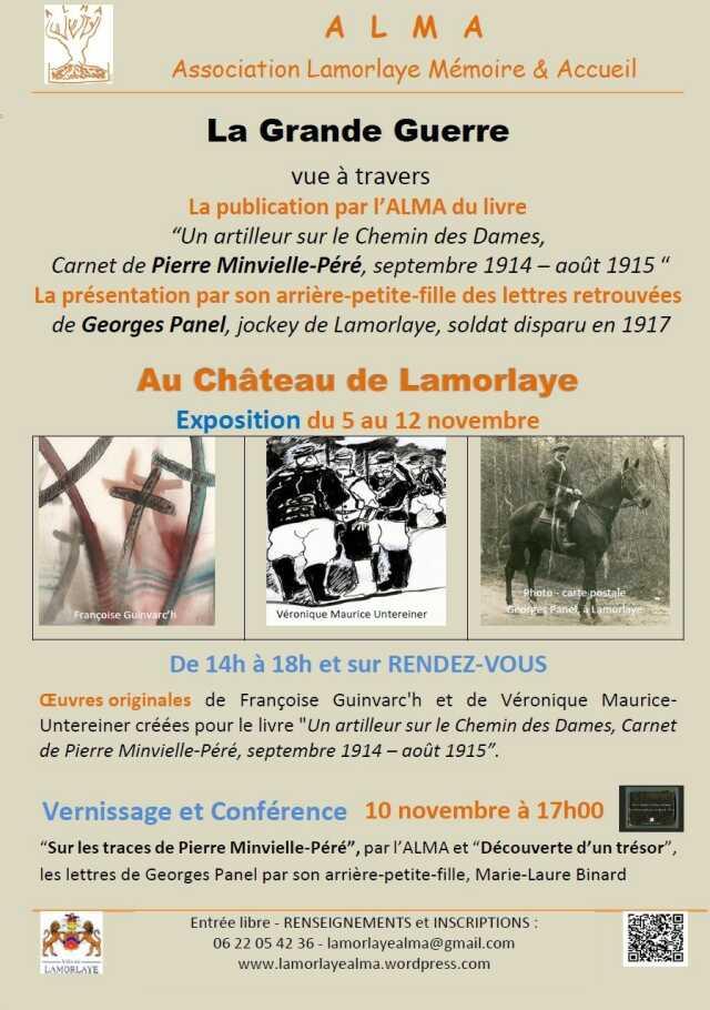 Exposition « 14-18, Lettres et Carnet, 2 soldats, Pierre Minvielle-Péré et Georges Panel »