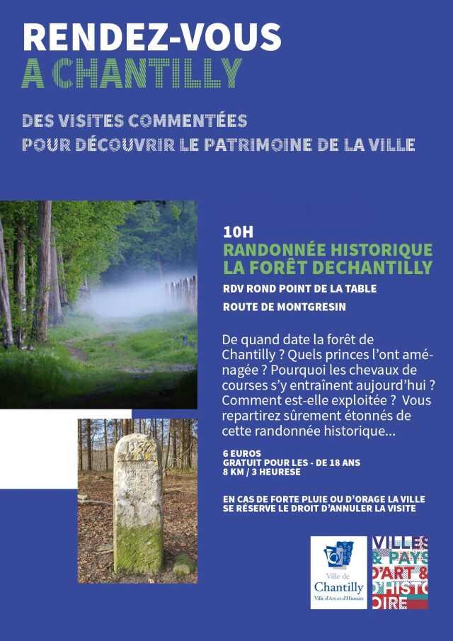 Randonnée historique en forêt de Chantilly.