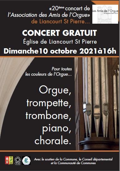 20 ème concert de l'association des amis de l'orgue