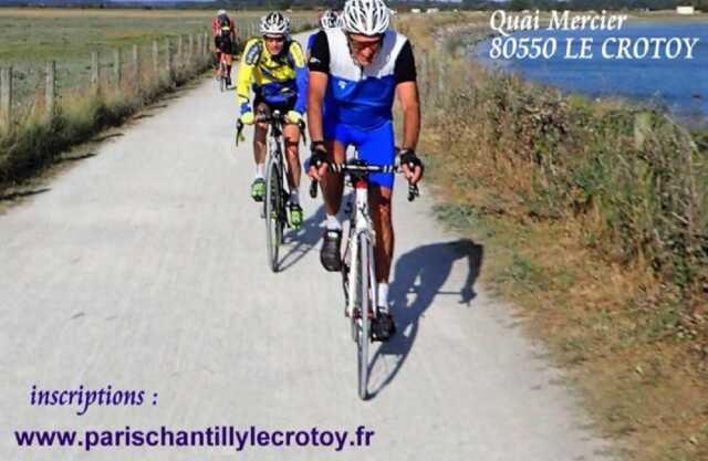 Arrivée de la randonnée cyclo Paris-Chantilly-Le Crotoy