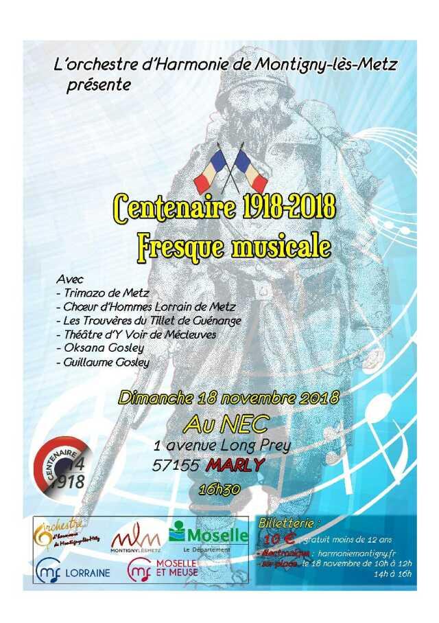 Moselle Musique Spectacle Centenaire Fresque Musicale