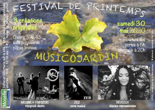 FESTIVAL DE PRINTEMPS MUSICOJARDIN - NOUVELLE DATE